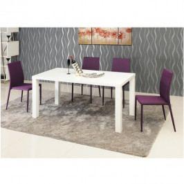 Jídelní stůl bílý vysoký lesk HG TK3206