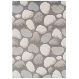 Koberec hnědá šedá vzor kameny 160x235 TK3253
