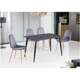 Jídelní stůl černý obdelník TK3212