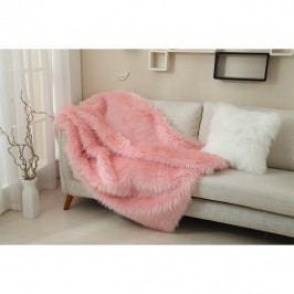 Kožešinová deka, ružová, 150x170, Ebona TYP 7