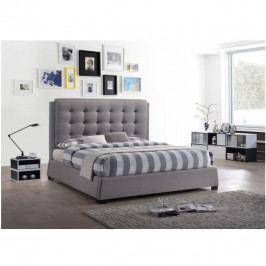 Manželská čalouněná postel 180x200 s roštem šedá TK3141