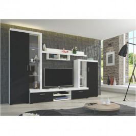Obývací stěna v barvě černá bílá TK3221