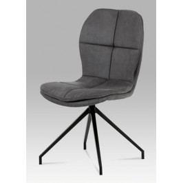 Jídelní židle z šedé látky s elegantním prošitím sedáku a opěráku HC-710 GREY3
