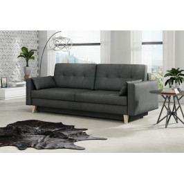 Retro pohovka v šedé barvě s úložným prostorem F1400
