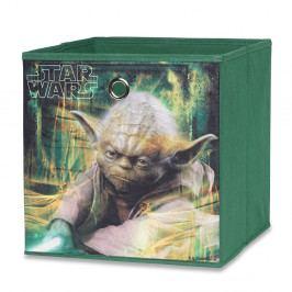 Úložný box 32x32 cm v zelené barvě s potiskem mistrem Yodou ze Star Wars DO061