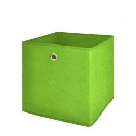 Úložný box 24x24 cm v zelené barvě DO061