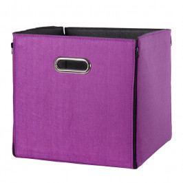 Úložný oboustranný box 32x32 cm ve fialové či černé barvě DO061