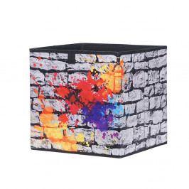 Úložný box 32x32 cm s potiskem graffiti DO061