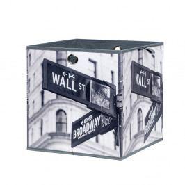 Úložný box 32x32 cm s ukazatelem známých New Yorkských ulic DO061