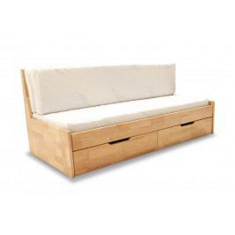 Dřevěná rozkládací postel v dekoru buk F1409