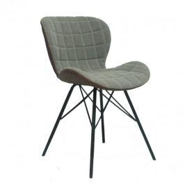 Designová stolička, béžová / hnědá, LORANA