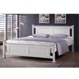 Manželská postel s roštem 160x200 cm borovicové dřevo bílá TK3145