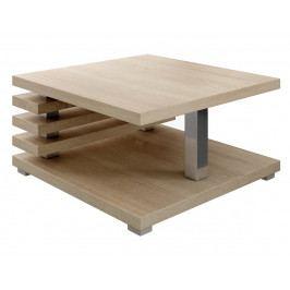 Konferenční stolek 60x60 cm s odkládacím prostorem v dekoru dub sonoma KN1098