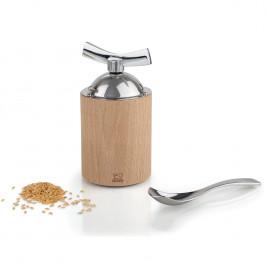 Mlýnek na lněná semínka ISEN přírodní dřevo/nerez 13 cm Peugeot