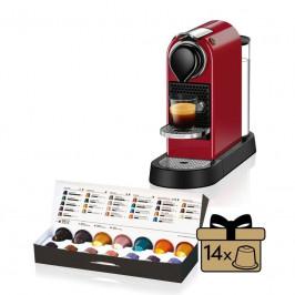 Espresso Krups Nespresso Citiz XN741510 červené