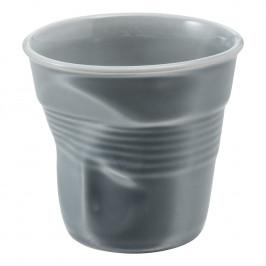 REVOL Kelímek na cappuccino 18 cl šedá Froissés