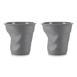 REVOL Sada recyklovaných kelímků na cappuccino 18 cl 2 ks 100% Recyclay Froissés