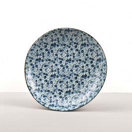MIJ Kulatý talíř Blue Daisy 23 cm