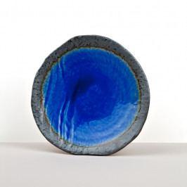 MIJ Kulatý talíř s nepravidelným okrajem COBALT BLUE 27 cm