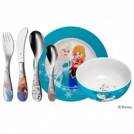 WMF Dětské nádobí Frozen - Ledové království, dětská jídelní sada Disney 6 ks, s příborem