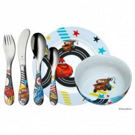 WMF Dětské nádobí Auta - Cars, dětská jídelní sada Disney 6 ks, s příborem