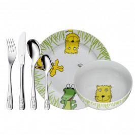 WMF Dětské nádobí Safari, dětská jídelní sada 6 ks, s příborem