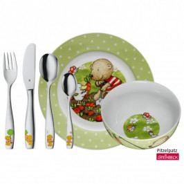 WMF Dětské nádobí Pitzelpatz, dětská jídelní sada 6 ks, s příborem