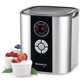 NUC Electronics Výrobník sýrů, jogurtovač Fermentor Kuvings stříbný