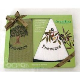 Forbyt ,Dárkové balení 2 ks bavlněných utěrek, Olivy, 50 x 70 cm, kulatý 45 cm