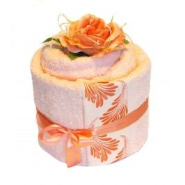 Forbyt, Ručníkový dort, Alehandro simple, oranžový