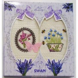 Forbyt, Dárkové balení 2 ks bavlněných utěrek, Levandule s motýlem 2, 50 x 70 cm