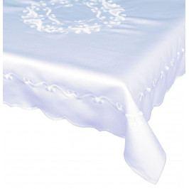 Forbyt, Ubrus vyšívaný, Gold, bílý 90 x 90 cm