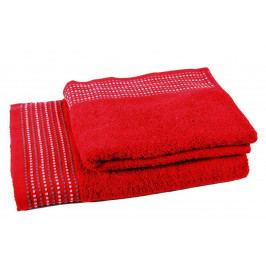 Forbyt, Ručník nebo osuška bavlněná, Dots, červená 70 x 130 cm