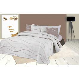 Forbyt, Přehoz na postel, Links, béžový 240 x 260 cm + 2 ks 40 x 40 cm