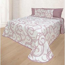 Forbyt, Přehoz na postel, Baile, světle bordová 240 x 260 cm + 2 ks 40 x 40 cm