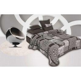 Forbyt, Přehoz na postel s návleky, Eternety, šedá 240 x 260 cm + 2 ks 40 x 40 cm