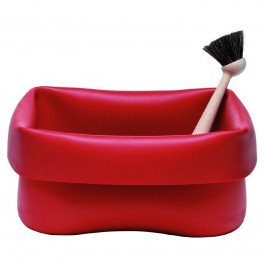 Výprodej Normann Copenhagen designové mycí mísy Washing Up Bowl & Brush (červená)