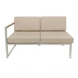 Jan Kurtz designové zahradní sedačky Lux Lounge s levou područkou