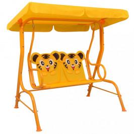 Dětská houpací lavice Dekorhome Žlutá