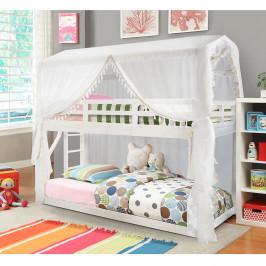 Montessori patrová postel ZEFIRE bílá Tempo Kondela