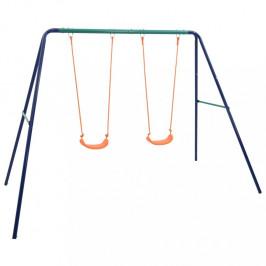 Dětská sada houpaček modrá / oranžová / zelená Dekorhome