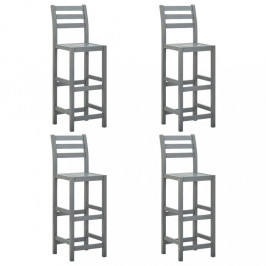 Zahradní barové židle 4 ks šedá Dekorhome