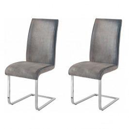 Sada 2 šedých židlí Støraa Manto