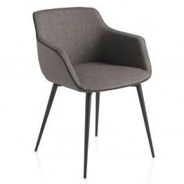 Šedá židle Ángel Cerdá Sublim
