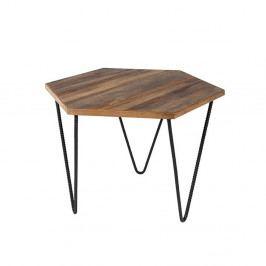 Odkládací stolek z recyklovaného teakového dřeva White Label Cor
