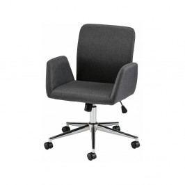 Černá kancelářská židle na kolečkách s područkami Støraa Bendy