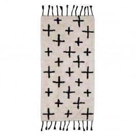 Béžový bavlněný koberec BePureHome More, 140x70cm