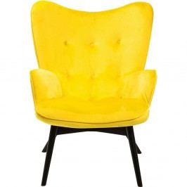 Žluté křeslo Kare Design Vicky Velvet