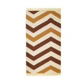 Hnědý koberec ZigZag Brown, 80x150cm