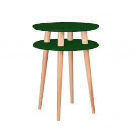 Tmavě zelený odkládací stolek Ragaba Ufo, ⌀45cm
